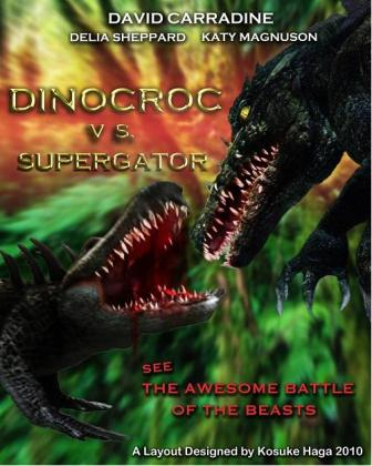 Динокрок против динозавра / Dinocroc vs. Supergator (2010/HDTVRip)